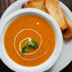 Cream Of Fresh Tomato Soup - Square Recipe Preview Image