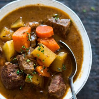 Healthy Slow Cooker Beef Stew - Perfect Make Ahead Dinner Idea!
