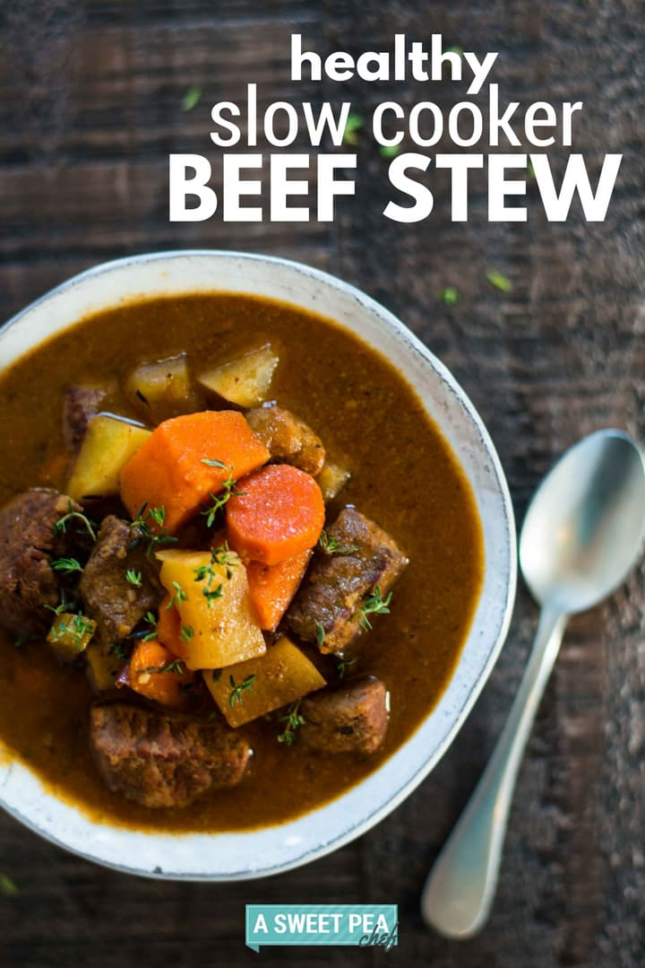 Healthy Slow Cooker Beef Stew Perfect Make Ahead Dinner Idea A