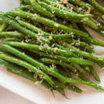 Garlic Parmesan Green Beans Square Recipe Preview Image