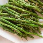 Garlic Parmesan Green Beans Square Recipe Preview Image