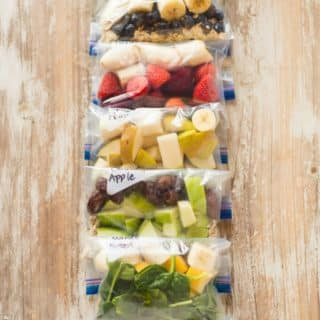 7 Smoothie Freezer Packs | How to make smoothie freezer packs for easy smoothie recipes any time you want! | A Sweet Pea Chef