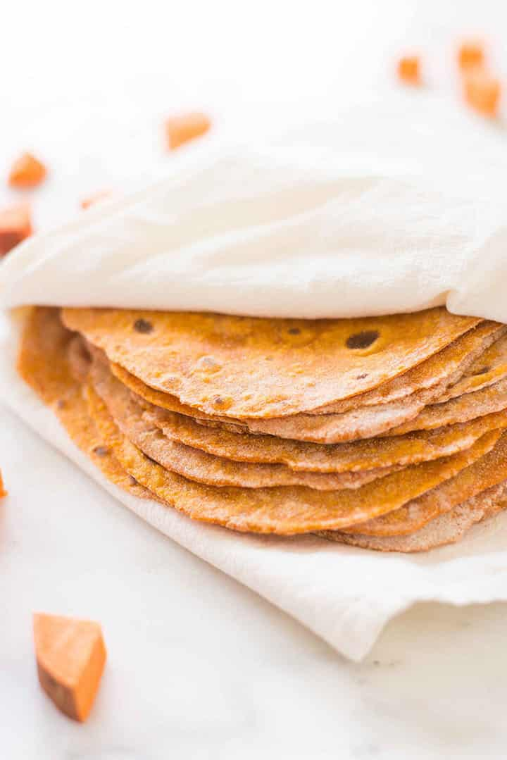 How To Cook Sweet Potatoes - Sweet Potato Tortillas