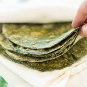 Healthy Homemade Spinach Tortillas (Just 4 Ingredients!)