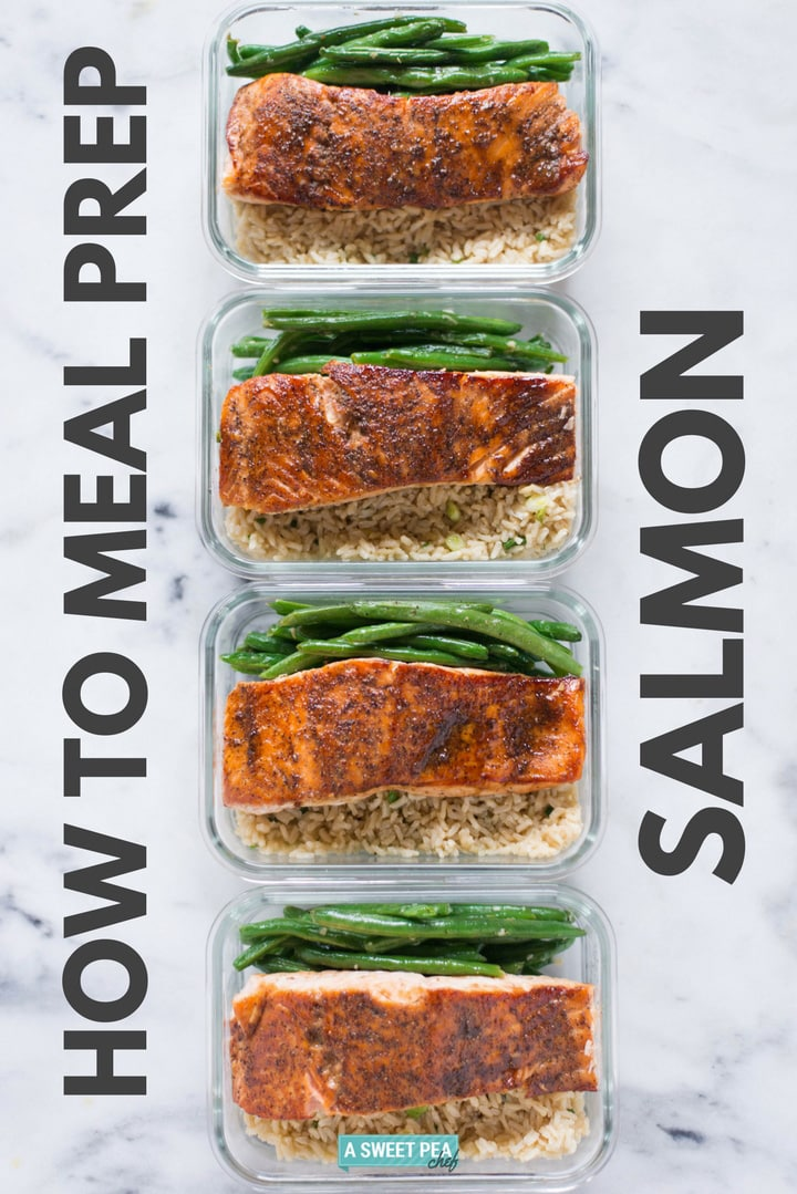 How to Meal Prep Salmon | How to meal prep salmon for the week, including an easy salmon recipe, all for just $6 per meal! Cook once and eat all week! | A Sweet Pea Chef