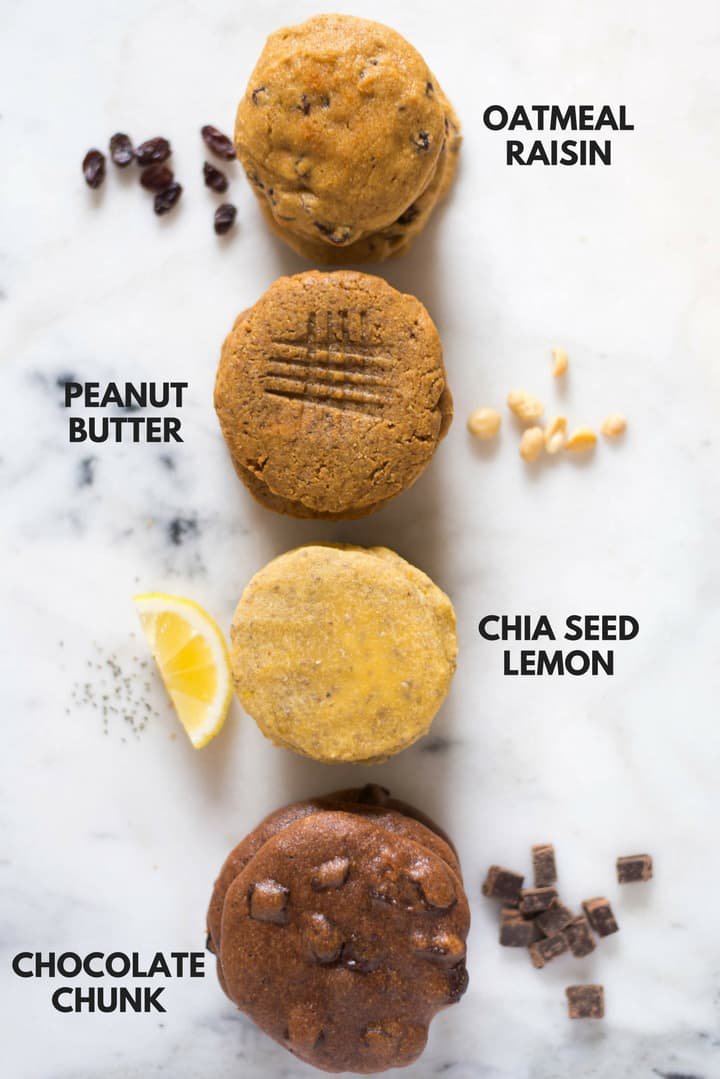 4 Irresistible Protein Paleo Cookies | Enjoy these 4 different ways to make irresistible paleo protein cookies using paleo baking flour for some cookie baking magic. A Sweet Pea Chef AD @bobsredmill