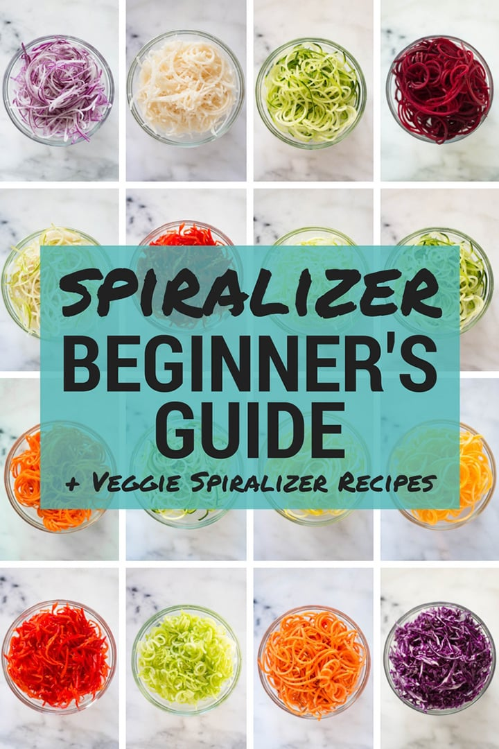 Veggie Spiralizer Recipes | Spiralizer Beginner's Guide + Easy Veggie Spiralizer Recipes | A Sweet Pea chef