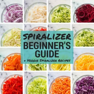 Spiralizer Beginner's Guide + Veggie Spiralizer Recipes