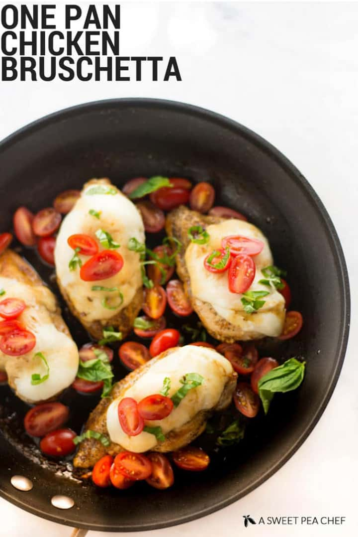 35 Easy Chicken Recipes - One Pan Chicken Bruschetta