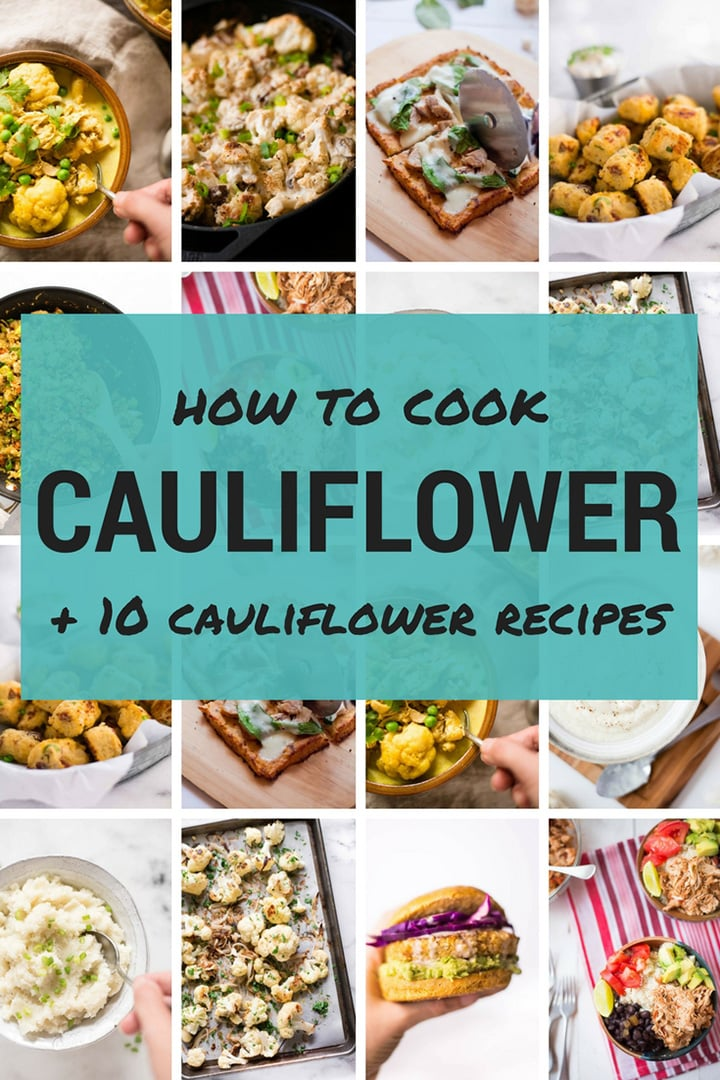 How To Cook Cauliflower | Cauliflower can be added to pretty much any dish you want, from your favorite curry to burritos, and makes a delicious low-carb option. After trying my 10 Easy and Delicious Cauliflower Recipes, you'll look learn how to cook cauliflower and you'll never look at a cauliflower head the same way again! | A Sweet Pea Chef