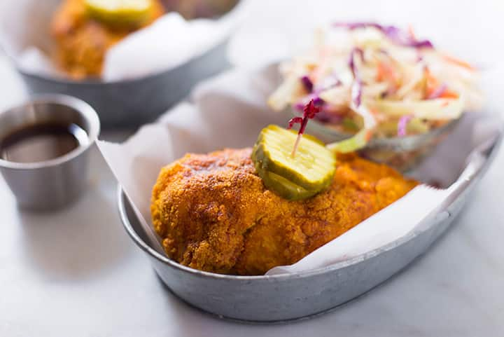 Nashville Hot Chicken | Follow these easy steps and you'll be on your way to the best healthy Nashville Hot Chicken ever. Just in time for summer! | A Sweet Pea Chef