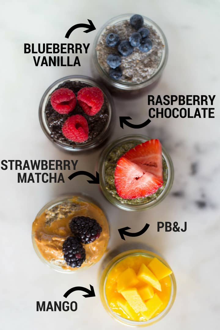 5 Best Chia Pudding Recipes | How to make easy chia pudding 5 different ways with the very best chia pudding recipes plus tips for how to make chia pudding. | A Sweet Pea Chef