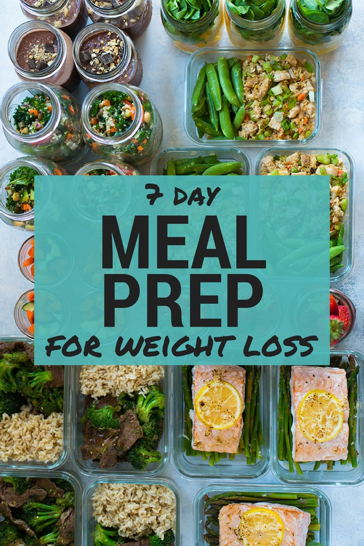 Meal Prep For Weight Loss | FULL WEEK of healthy meal prep for weight loss, ready in just about one hour. All 7 days, breakfast, lunch, dinner, and even snacks – great for weight loss or if you just want to have your healthy meals all prepped for you for the week. | A Sweet Pea Chef
