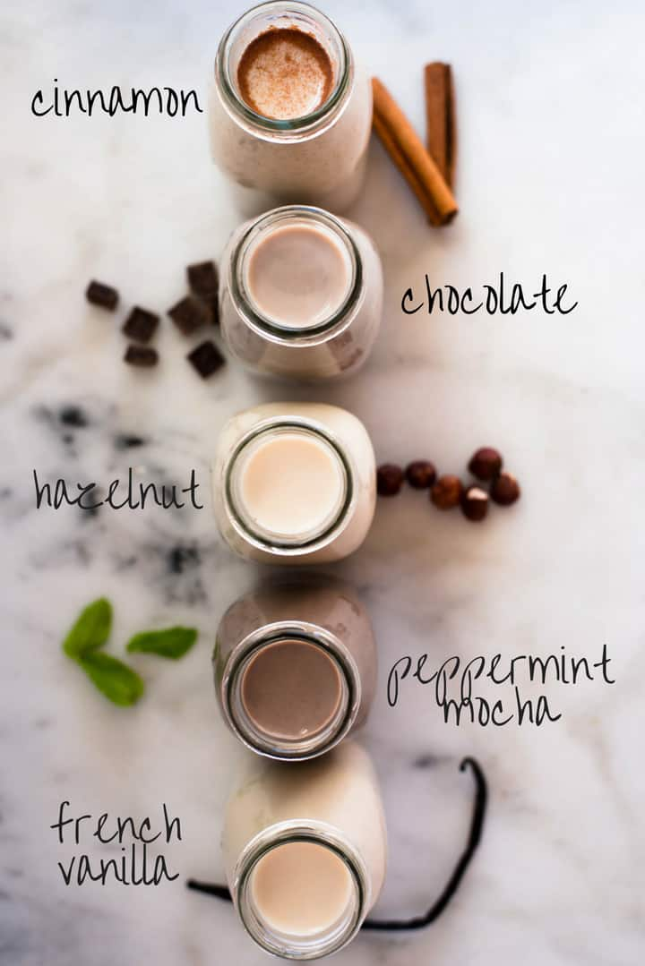 How to Make Coffee Creamer + 5 Healthy Flavored Coffee Creamers | Enjoy a cup of