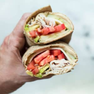Avocado, Turkey & Hummus Wrap