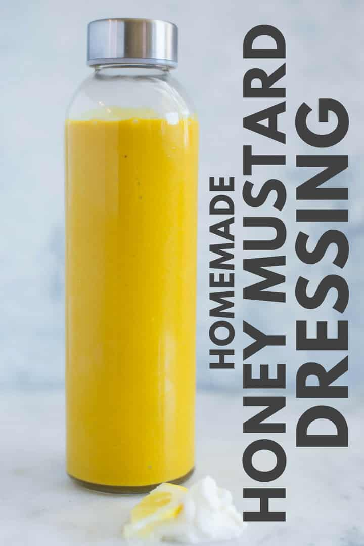 Honey Mustard Dressing – This Honey Mustard Dressing is so dang good and only requires 4 simple ingredients.