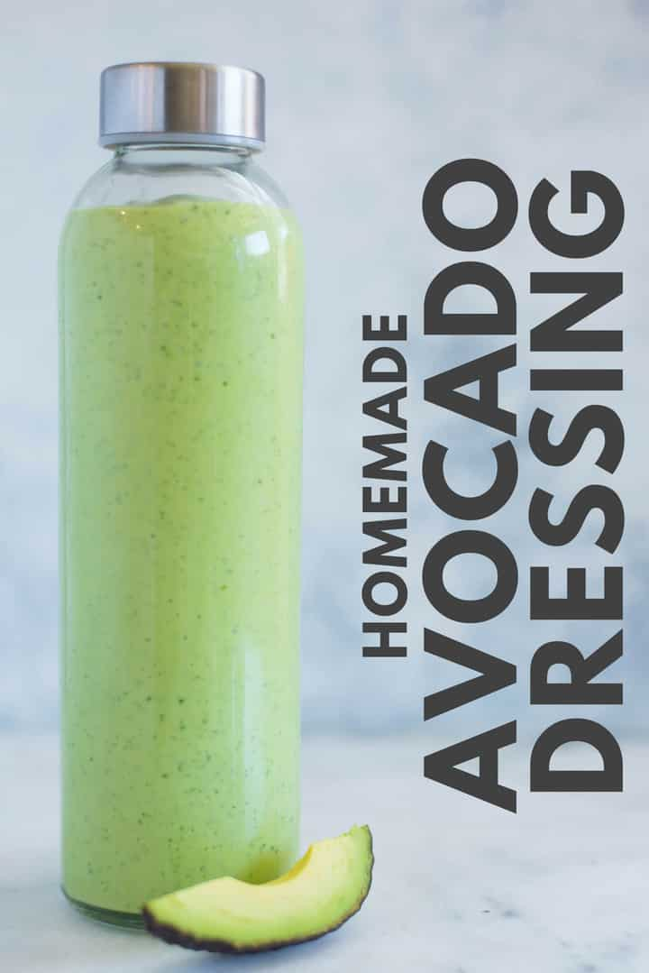 This Avocado Dressing is my go-to for cobb salads and is so creamy and delicious.