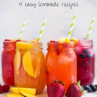 Homemade Lemonade + 4 Easy Lemonade Recipes