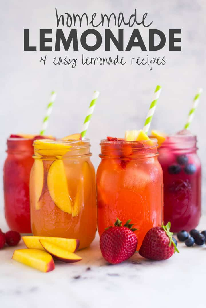 Homemade Lemonade 4 Easy Lemonade Recipes A Sweet Pea Chef