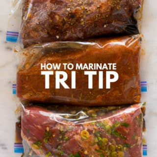 How to Marinate Tri Tip | Follow my easy tips for marinating tri tip and turn this lean cut of beef into the star of the show + Try one of my 3 Tri Tip Marinade Recipes | A Sweet Pea Chef