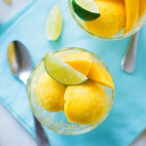 3 Ingredient Mango Sorbet (Without an Ice Cream Maker!)