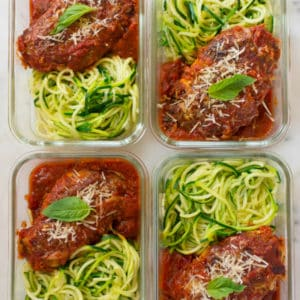 How to Meal Prep - Healthy Chicken Parmesan (Under 350 Calories!)