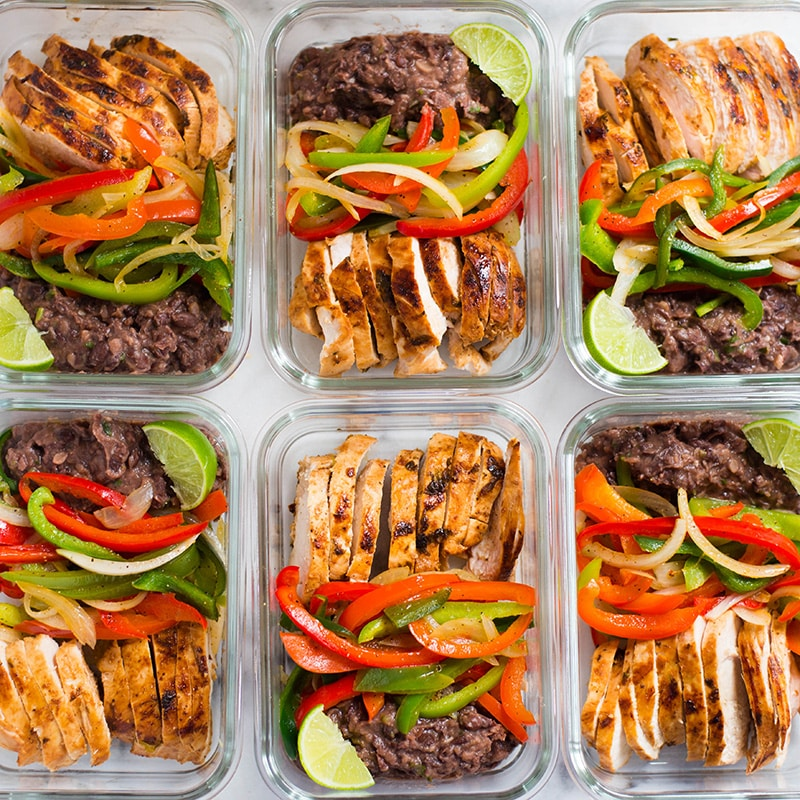 Healthy Chicken Fajitas Meal Prep