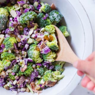 Healthy Broccoli Salad with Greek Yogurt Dressing