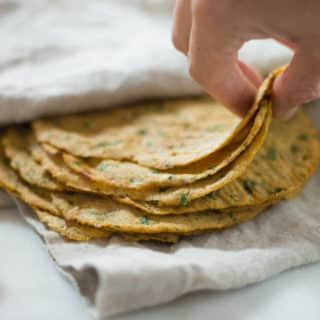 Cauliflower Tortillas | Learn how to make these low carb, high fiber Cauliflower Tortillas.These healthy tortillas are so awesome and the perfect grain-free tortilla substitute! | A Sweet Pea Chef