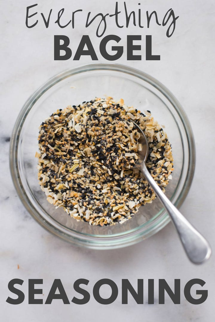 Eating clean doesn't mean giving up on your favorite flavors! Homemade Everything Bagel Seasoning is a healthy version of the famous Trader Joe's bagel seasoning. Make it in 5 minutes and enjoy its crunchy, nutty taste on your best-loved dishes!