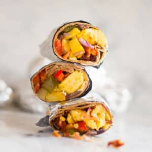 Frozen Breakfast Burritos (Healthy Make Ahead Breakfast!)