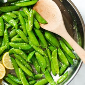 10 Minute Sugar Snap Peas with Lemon