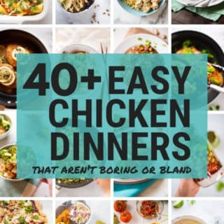 Easy Chicken Dinners | Easy chicken recipes are perfect for those busy weeknights when you're struggling to keep up eating healthy AND get dinner on the table. These easy chicken dinners are simple and healthy but, most importantly, are also delicious and flavorful. | A Sweet Pea Chef