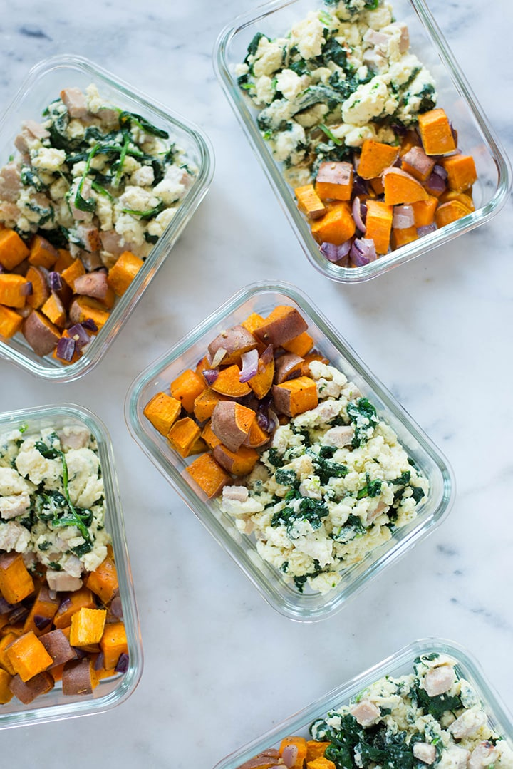 Breakfast Meal Prep Egg White Scramble Sweet Potato Hash A
