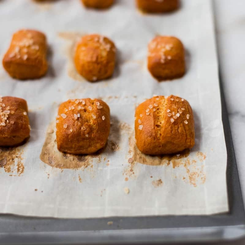 Sweet Potato Soft Pretzel Bites (with Sweet Potato Dough!) • A Sweet Pea Chef