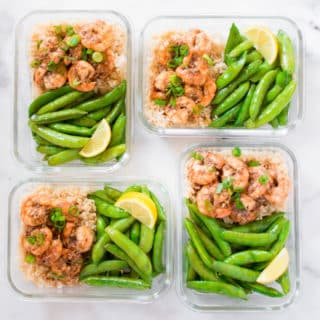 How To Meal Prep | Honey Garlic Shrimp Meal Prep (Under 350 Calories!)