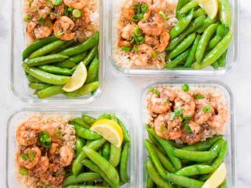 How To Meal Prep Honey Garlic Shrimp Meal Prep Under 350 Calories