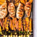Fall Meal Prep on the Grill | Learn how to meal prep chicken andFall veggies on the grill | A Sweet Pea Chef