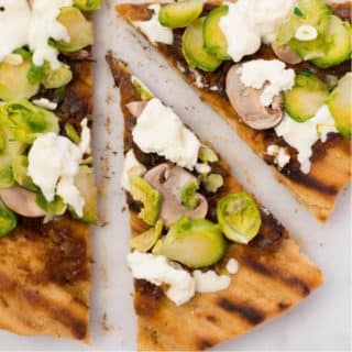 Grilled Pizza with Maple Onion Jam | Learn how to make delicious and flavorful pizza on the grill | A Sweet Pea Chef