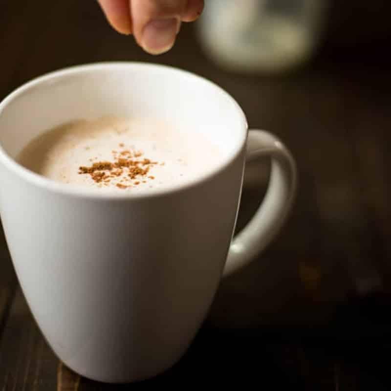 (Better Than Starbucks!) Homemade Eggnog Latte • A Sweet