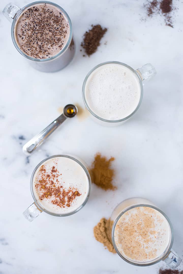 How to Make Homemade Lattes + 4 Latte Recipes | Learn how to make lattes at home plus everything you need to know about latte flavors and latte ingredients | A Sweet Pea Chef