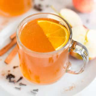 Hot Apple Cider | Learn how to make healthy, sugar-free hot apple cider for the holidays | A Sweet Pea Chef