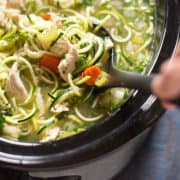 Low Carb Slow Cooker Chicken Noodle Soup