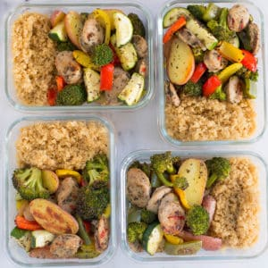 Sheet Pan Sausage and Veggies - Perfect for Meal Prep!