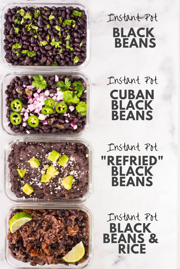 How To Make Instant Pot Black Beans 4 Easy Instant Pot Black Beans Recipes A Sweet Pea Chef