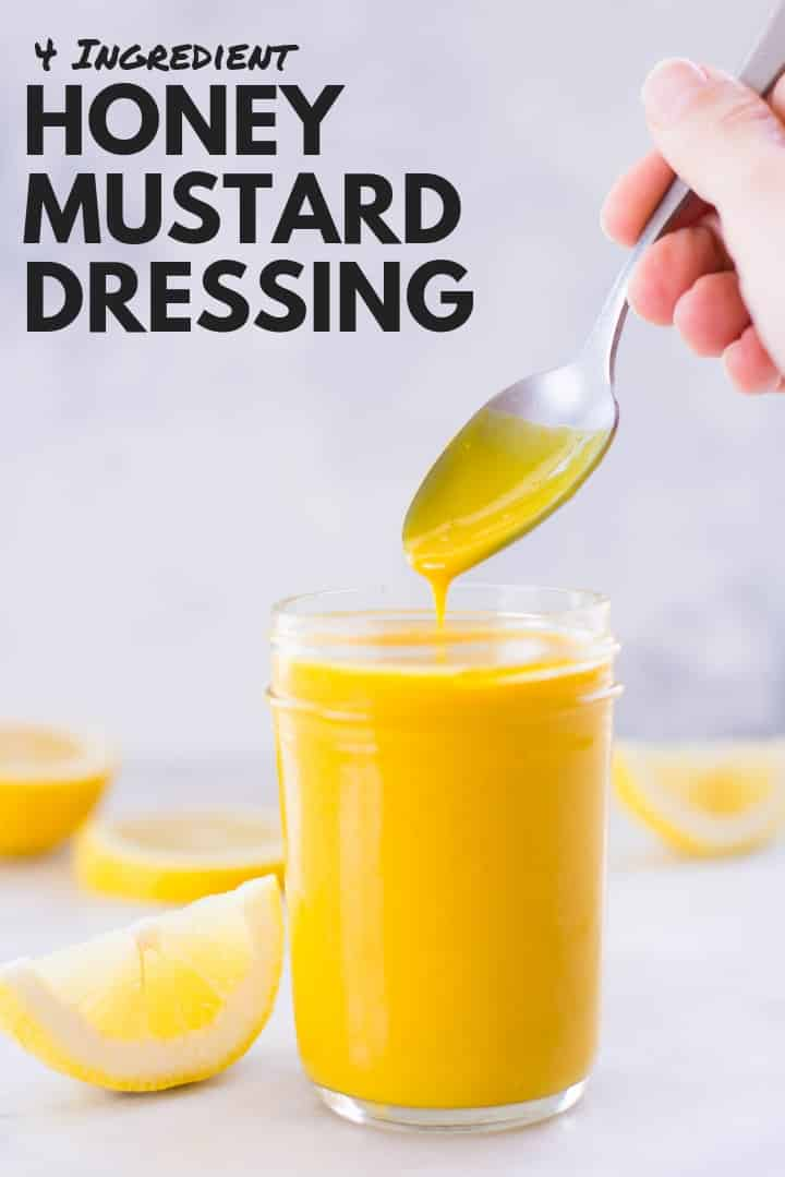 Healthy Honey Mustard Dressing Recipe | 4 ingredients dressing that's clean, healthy, and perfect for any salad | A Sweet Pea Chef