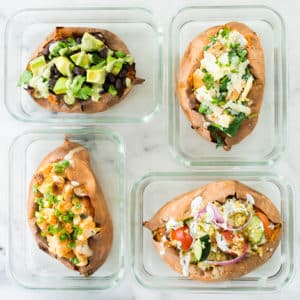 How To Make Baked Sweet Potatoes + 4 Easy Stuffed Sweet Potato Recipes