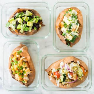 How To Make Baked Sweet Potatoes + 4 Easy Stuffed Sweet Potato Recipes | Learn how to cook sweet potatoes in the oven and discover 4 baked sweet potato toppings | A Sweet Pea Chef