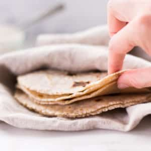 4-Ingredient Cassava Flour Tortillas | GF, Paleo + Nut-Free!