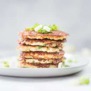 15-Minute Cauliflower Hash Browns | Low Carb, GF, Keto, Paleo + Easy
